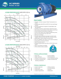 Centrifugal - UC326 Technical Flyer
