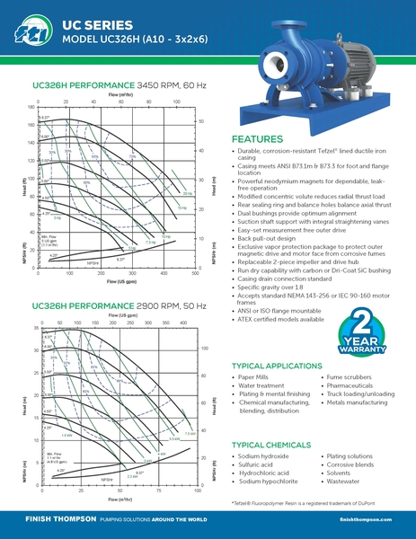Centrifugal - UC326H Technical Flyer