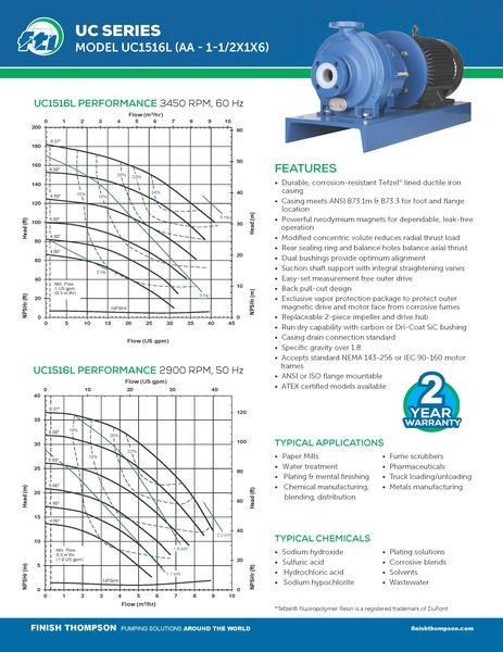 Centrifugal - UC1516L Technical Flyer