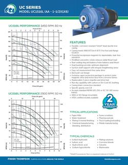 Centrifugal - UC1516L Technical Flyer
