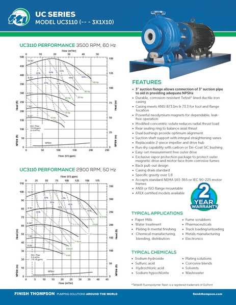 Centrifugal - UC3210 Technical Flyer
