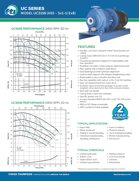 Centrifugal - UC3158 Technical Flyer