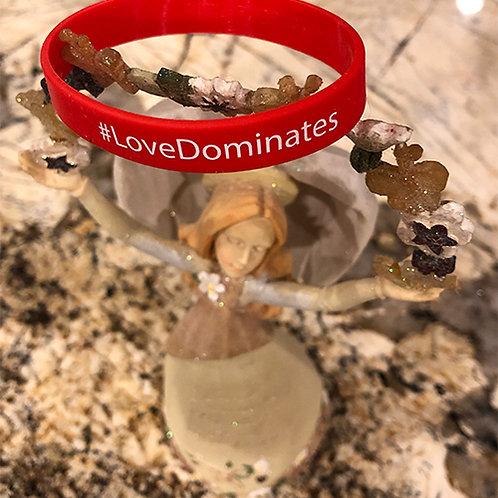 Love Dominates Silicone Bracelet