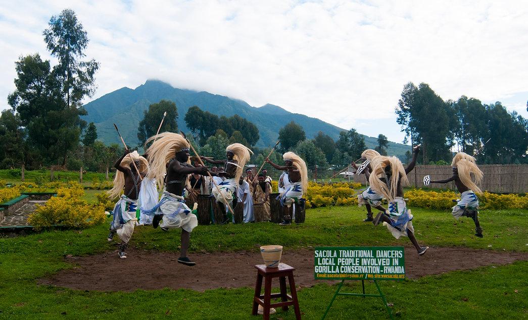 Tribal dancing, Rwanda