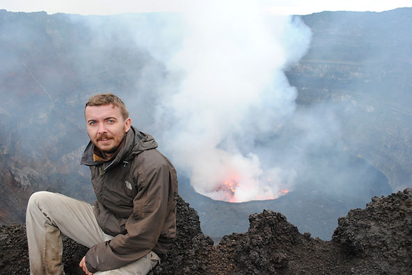 Nyirongongo Volcano and live lava lake, DR Congo