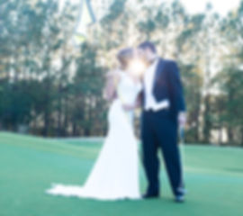 golf wedding photo at savannah country club