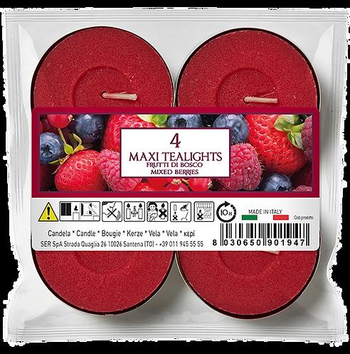 """Maxi Tealights - 10u - """"Mixed Berries"""" (Verpakt per 12)"""