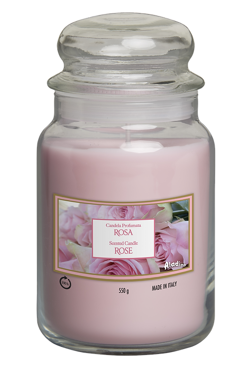 "Large Jar - ""Rose"" (Verpakt per 3)"
