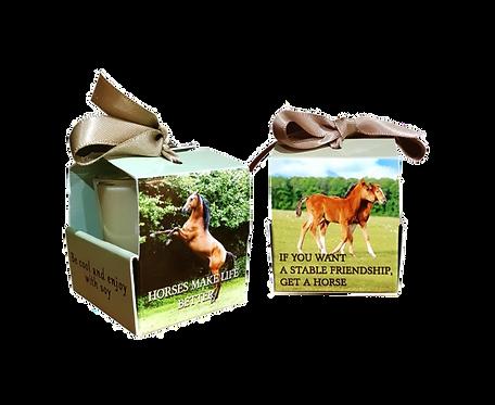 "Wenskaarsje Laura Lilly - ""Horse "" (Verpakt per 3)"