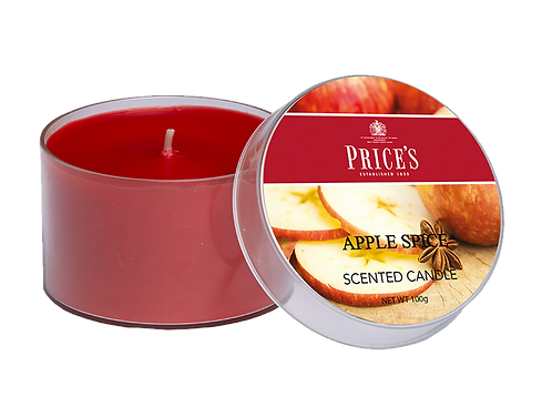 "Tin Candle - ""Apple Spice"" (Verpakt per 3)"