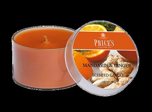 """Tin Candle - """"Mandarin & Ginger"""" (Verpakt per 3)"""