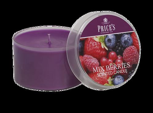"Tin Candle - ""Mixed Berries"" (Verpakt per 3)"