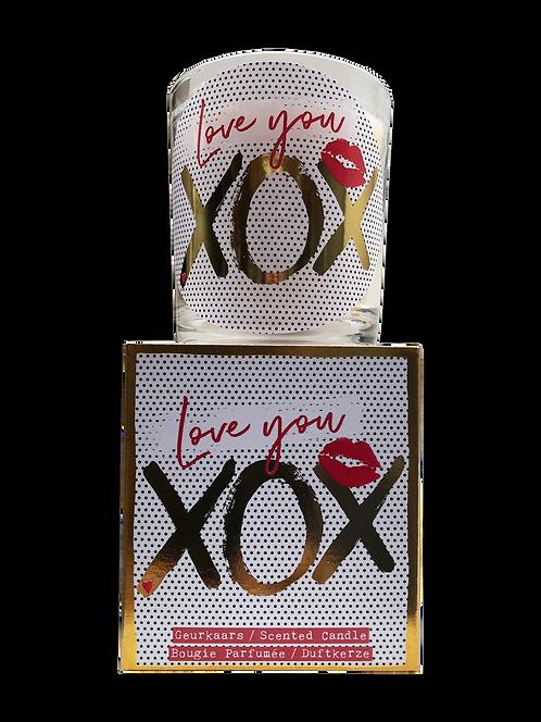 "Giftbox GC064 - ""Love you xox"" (Verpakt per 3)"