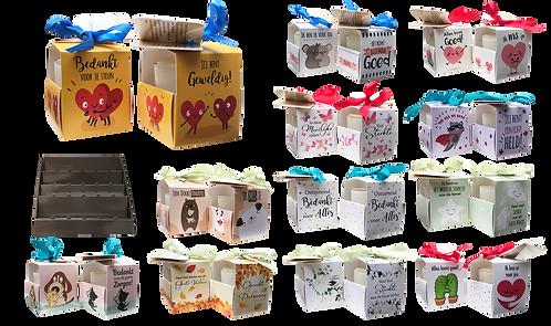 Voordeelpakket Hart Onder De Riem Wenskaarsjes (12 wenskaarsjes x 4 stuks)