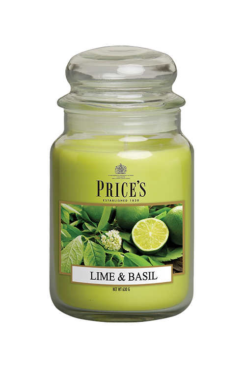 "Large Jar - ""Lime & Basil"" (Verpakt per 3)"