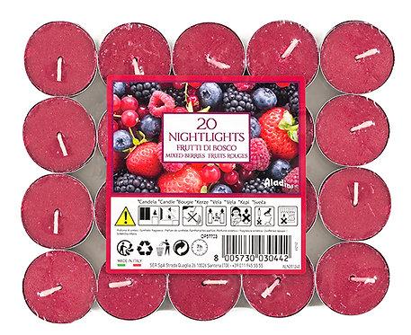 """Tealights x 20 - 7u - """"Berries"""" (Verpakt per 12)"""