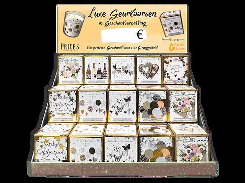 Kartonnen display voor giftbox candles