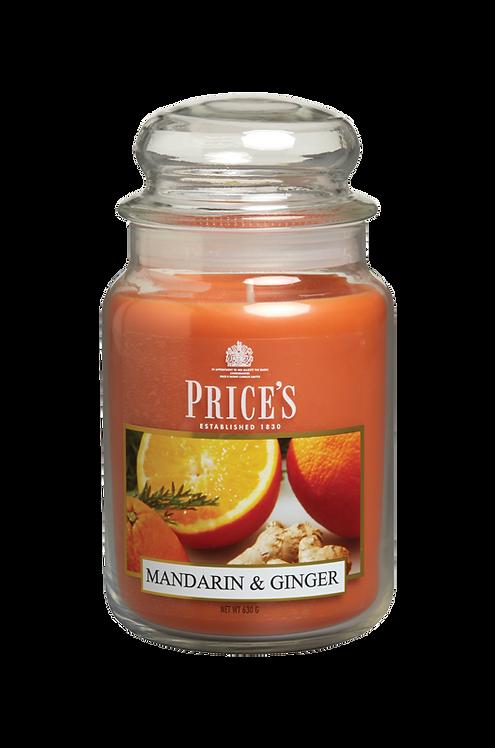"Large Jar - ""Mandarin & Ginger"" (Verpakt per 3)"
