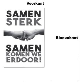 "Wenskaart - ""Samen Sterk"" (6 stuks)"