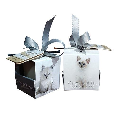 "Wenskaarsje Laura Lilly - ""Cat"" (Verpakt per 3)"