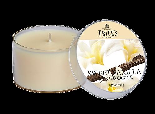 "Tin Candle - ""Sweet Vanilla"" (Verpakt per 3)"