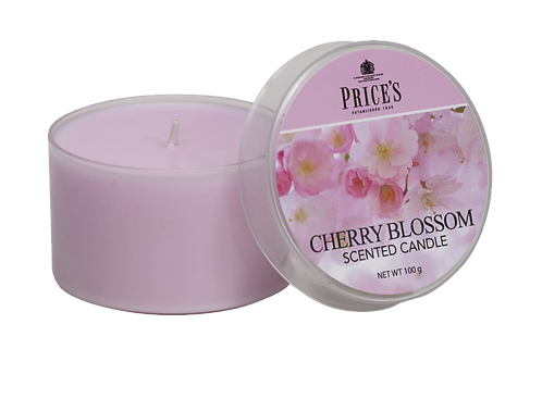 "Tin Candle - ""Cherry Blossom"" (Verpakt per 3)"