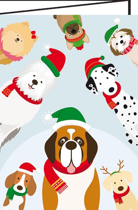 """Nieuwjaarsbrief A5 - """"Honden"""" (10 stuks)"""