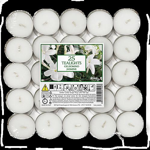 """Tealights x 25 - 4u - """"Jasmine"""" (Verpakt per 24)"""