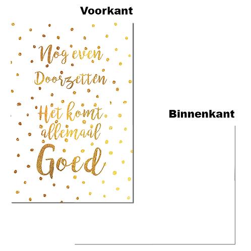 """Wenskaart - """"Nog even doorzetten"""" (6 stuks)"""
