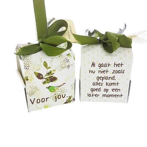 """Wenskaarsje Laura Lilly - """"Voor jou"""" (Verpakt per 3)"""