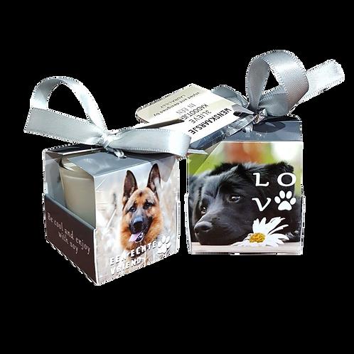 """Wenskaarsje Laura Lilly - """"Dogs """" (Verpakt per 3)"""
