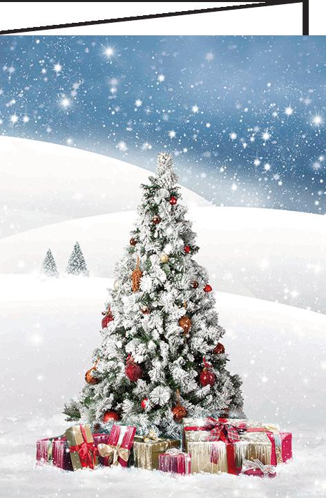 """Nieuwjaarsbrief A5 - """"Kerstboom"""" (10 stuks)"""