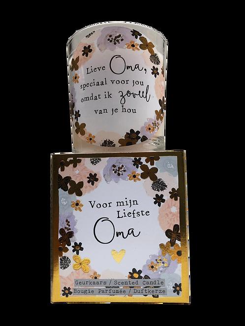 """Giftbox """"Voor mijn liefste Oma"""" (Verpakt per 3)"""