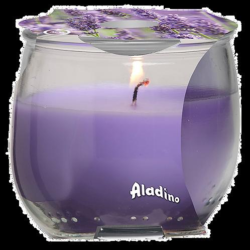 "Small Glass Jar - ""Lavender"" (Verpakt per 6)"