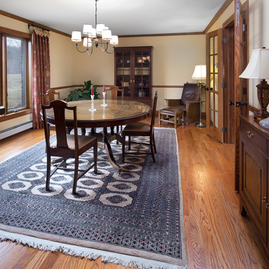 Formal dining room with french doors