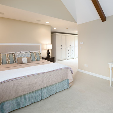 The master suite includes beautiful built-in wardrobes plus 2 closets.