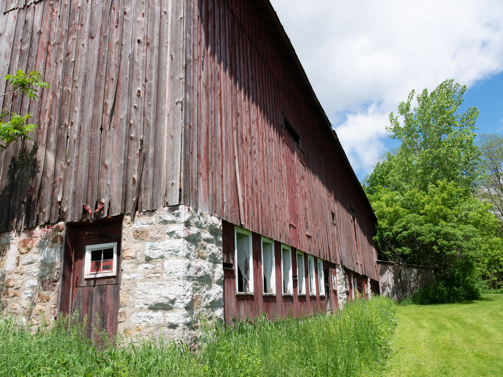 Large historic barn