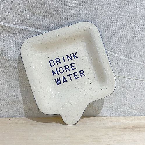 Speech bubble Dish 💬 陶瓷小碟 - Drink more water