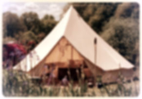 Glamping Tent at the Wise Women Gathering