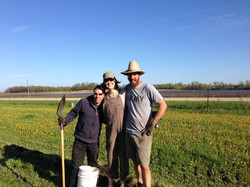 Planting Hazelnuts with Andy & Irene
