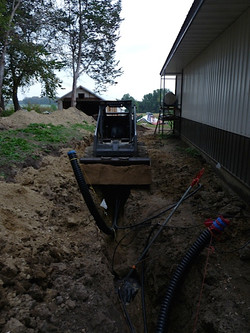 Trench for the Wood Boiler