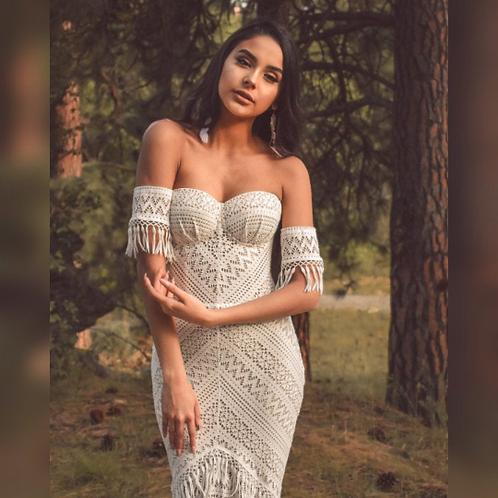 Boho chick wedding dress
