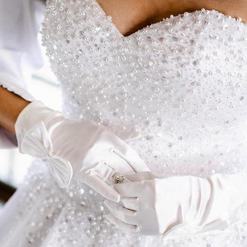 Satin Corset Ball gown / Wedding dress