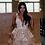 Thumbnail: Open back Blush ruffle skirt wedding gown