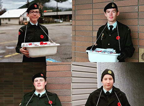 Cadet Team selling Poppies for Remembrance Day