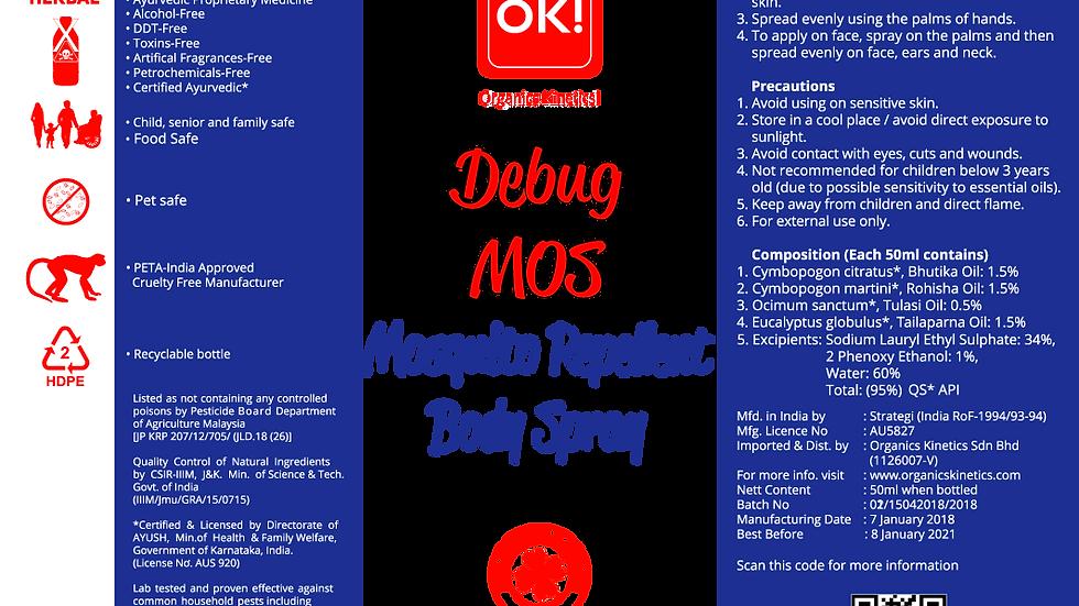 OK! Debug - MOS Mosquito Repellent Body Spray