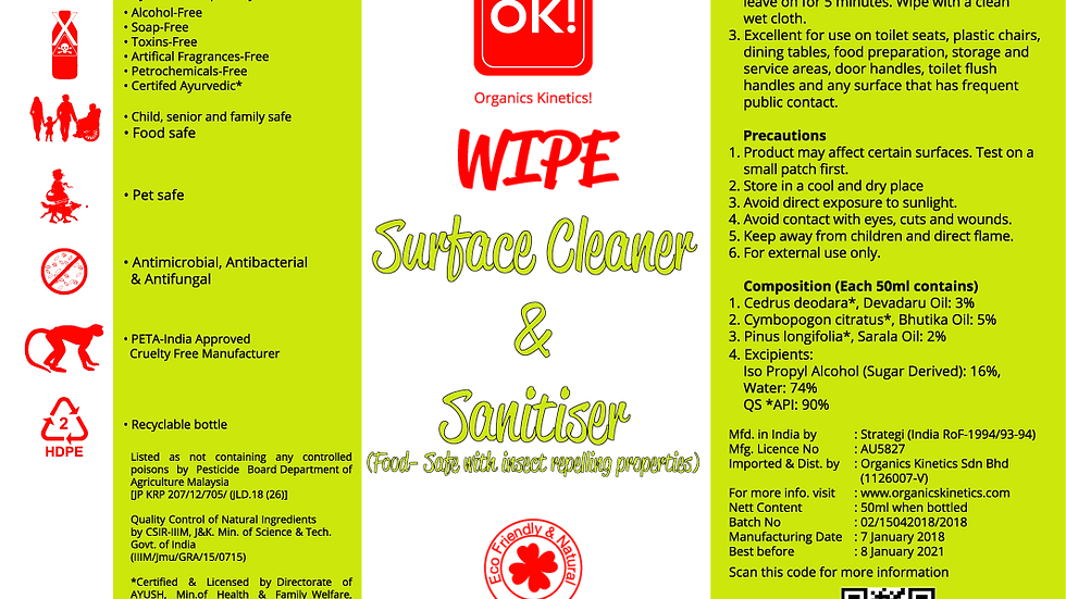 WIPE - Surface Cleaner & Sanitizer