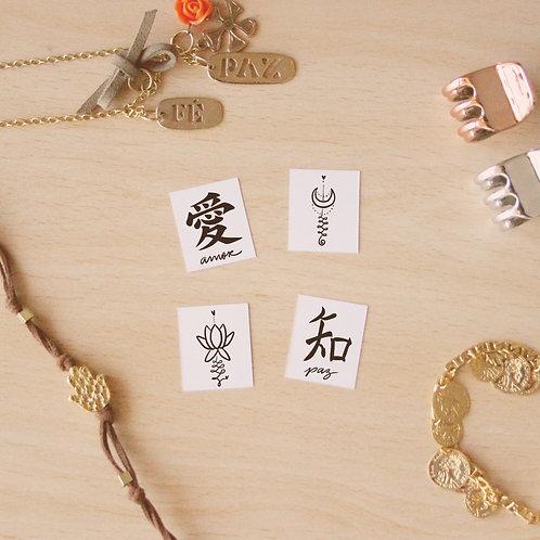 Tattoos Temporárias - Pack Zen