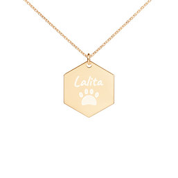 Personalized | Engraved Hexagon | Chain Necklace