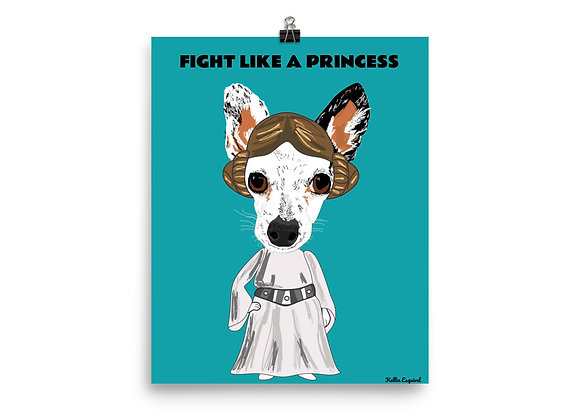 Fight Like a Princess | Poster 8x10